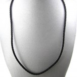 18 Inch 2mm Braided Nylon Cord with Sterling Silver Clasp 5pcs Pack - Black