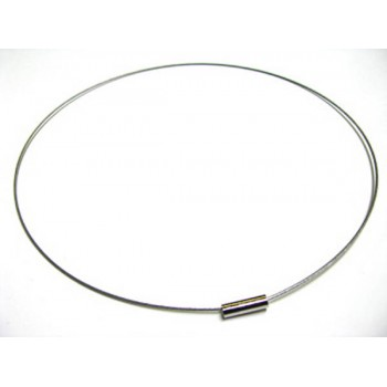 18 Inch Silver Single Strand Choker with Magnetic Clasp 10 piece pack