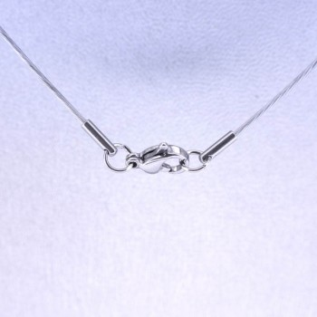 18 Inch Single Wire Choker with Stainless Steel Clasp - Silver