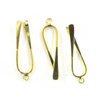 757 Gold Plated Long Bails 6 Piece Packs