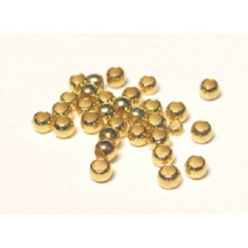 905 Gold Plated 2mm Crimp Bead 400 Piece Packs
