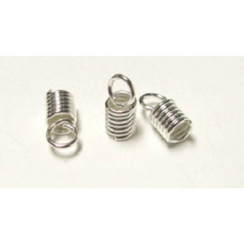 996 3mm Coil End Crimp 40 Piece Packs