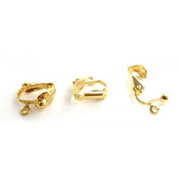 745 Gold Plated Clip On Earrings 10 Piece Packs