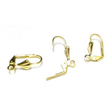 751 Gold Plated Leverback Earrings 20 Piece Packs