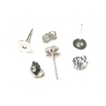906 Flat Earring Stud 50 Piece Packs