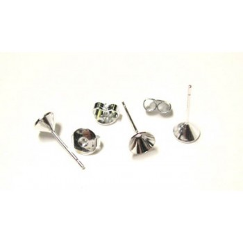 907 Cup Earring Stud 50 Piece Packs