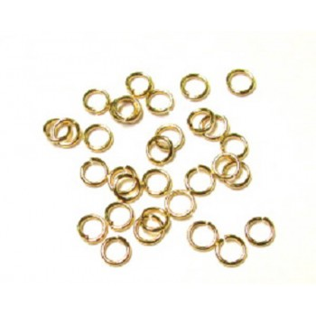 705 Gold Plated 6mm Open Jump Ring 140 Piece Packs