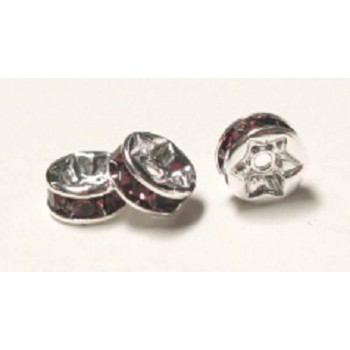 712 6mm Purple Crystal Rondelle 12 Piece Packs