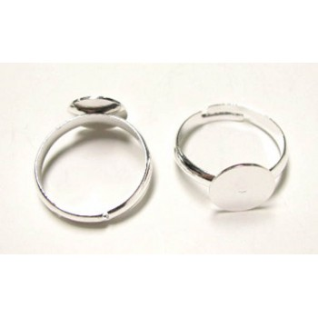 808  18mm Adjustable Ring with Flat Front 12 Piece Packs