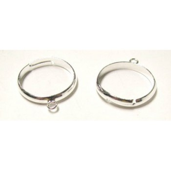 811 22mm Adjustable Ring with Loop 12 Piece Packs