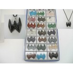 Pendant Pack on Cord - Bat Assorted Stones 24 piece pack