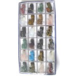 Pendant Pack on Cord - Cat Assorted Stones 24 piece pack