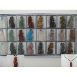 Pendant Pack on Cord - Coyote Assorted Stones 24 piece pack