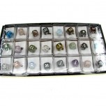 Pendant Pack on Cord - Dice Assorted Stones 24 piece pack