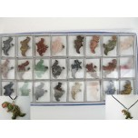 Pendant Pack on Cord - Dinosaur Assorted Stones and Species 24 piece pack
