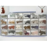 Pendant Pack on Cord - Dog Assorted Stones and Breeds 24 piece pack