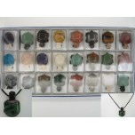 Pendant Pack on Cord - Turtle Assorted Stones 24 piece pack