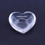 Large Gemstone Heart 1.75 Inch - Clear