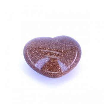 Small Gemstone Heart - Goldstone