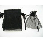 Organza Pouch Large 12 piece pack - Black