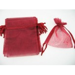 Organza Pouch Large 12 piece pack - Burgundy