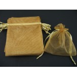 Organza Pouch Large 12 piece pack - Gold