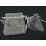 Organza Pouch Large 12 piece pack - Grey