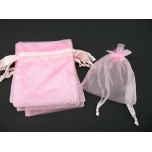 Organza Pouch Large 12 piece pack - Pink