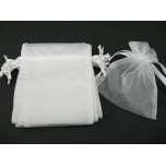 Organza Pouch Large 12 piece pack - White