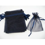 Organza Pouch Small 12 piece pack - Blue Navy