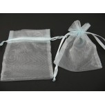 Organza Pouch Small 12 piece pack - Blue Teal