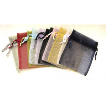 Organza Pouch Small 2.5 Inch x 3 Inch - 12 piece pack - Mixed