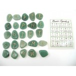 Runes - Aventurine 25 pc set