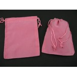 Velvet Pouch Large 4.5 Inch x 3.5 Inch 12 piece pack - Pink