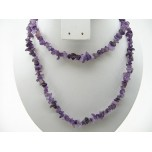 34-35 Inch Chip Necklace - Amethyst