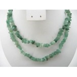 34-35 Inch Chip Necklace - Aventurine