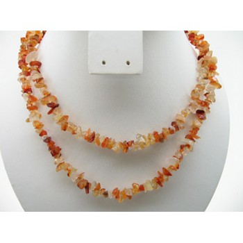 34-35 Inch Chip Necklace - Carnelian