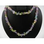 34-35 Inch Chip Necklace - Flower Quartz
