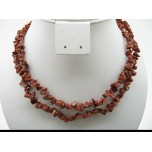 34-35 Inch Chip Necklace - Goldstone