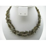 34-35 Inch Chip Necklace - Labradorite