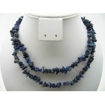 34-35 Inch Chip Necklace - Lapis