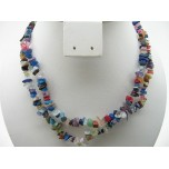 34-35 Inch Chip Necklace - Mixed Stone