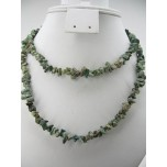 34-35 Inch Chip Necklace - Natural Turquoise