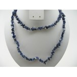 34-35 Inch Chip Necklace - Sodalite