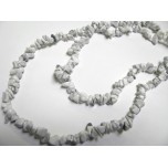 34-35 Inch Chip Necklace - White Howlite