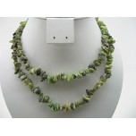 34-35 Inch Chip Necklace - Yellow Turquoise