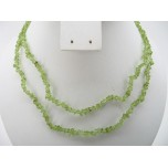 34-35 Inch Chip Necklace - Peridot