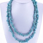 34-35 Inch Chip Necklace - Amazonite