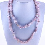 34-35 Inch Chip Necklace - Pink Opal