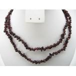 34-35 Inch Chip Necklace - Garnet